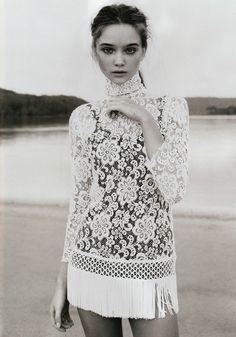 lace dress :: floral :: cream :: white :: inspiration :: bridal :: wedding ::