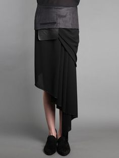 DAMIR DOMA   Asymmetrical draped skirt.  Want this!!