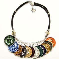 collar de monedas de www.eclecticjewellery.com Nespresso, Ring Bracelet, Ring Necklace, Bracelets, Knots, Jewerly, Espresso Coffee, Diy Kid Jewelry, Ideas