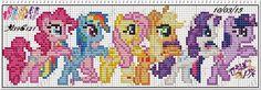 Artes e bordados da Sol: Gráficos My little pony
