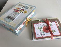 Book Box Tutorial by HappyStampin.net Jar of Love, Stampin Up. #StampinUp #JarOfLove