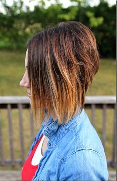 love this ombre inverted bob!!!