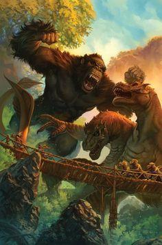 Kong destruye a cualquier enemigo. Dibujos De Kratos, Dibujos Marvel, Monstruos Gigantes, Criaturas Mágicas, Carlos Magno, Peliculas Fantasia, Monstruo De Fantasía, Diseños Minecraft, Cómics Anime