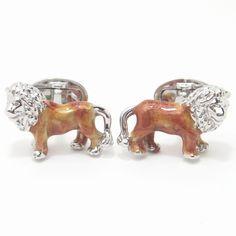 【JanLeslie】ゴールドに輝くライオンのカフス(カフリンクス/カフスボタン) - カフスボタン・ネクタイピンの通販「Plus1 ぷらすわん(カフスマニア)」