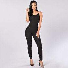 Sleeveless Mesh Black Fishnet Footless Jumpsuit Catsuit Clubwear Cover Up S M L