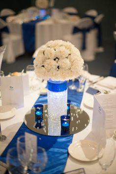 My Royal Blue wedding centre piece