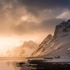 A beautiful sunrise in Kjerkfjorden, Iceland by @stianmklo. #modernoutdoors
