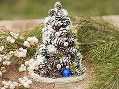 Делаем новогоднюю елочку из шишек   Ярмарка Мастеров - ручная работа, handmade
