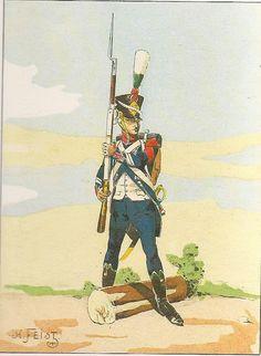Caporale dei cacciatori del 17 reggimento fanteria leggera francese nel 1809