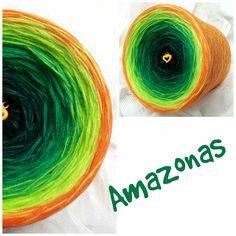 Amazonas: Hochbauschacryl 7 Farben: schwarz dunkelgrün grasgrün grün apfelgrün heller Apfel orange