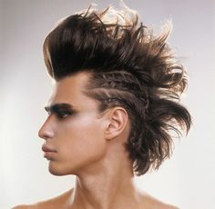 Punk rock hairstyles 2011 and 2012 are all here. Rock hairstyles, punk haircuts and much more information about hairstyles Box Braids Hairstyles, Top Hairstyles For Men, Braided Mohawk Hairstyles, Rock Hairstyles, Viking Hairstyles, Mohawk Updo, Curly Mohawk, Tail Hairstyle, Medium Hairstyle