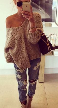 Show Some Shoulder - Be Both Cozy And Chic In These Oversized Sweater Looks - Photos