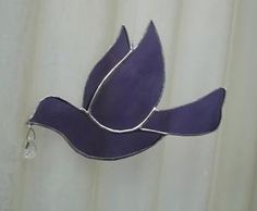 stained glass dove/purple