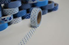 Washi Masking Tape navy blau PUNKTE GROSS von washitapes auf DaWanda.com