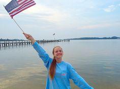 Feelin good with a flag