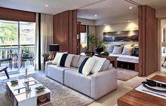 Madeira ripada é tendência na decoração – veja divisórias, painéis, móveis e muito mais!