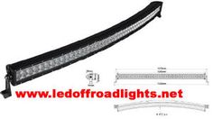 "50"" inch curved led light bar,cool for truck and boat"