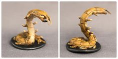 Miniature figures from the Mice and Mystics tabletop board game that I've painted. This is the centipede.