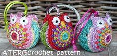 Crochet pattern Christmasball owl by ATERGcrochet by ATERGcrochet