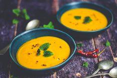 vegán édesburgonya krémleves mindenmentesen Thai Red Curry, Ethnic Recipes, Food, Potato, Essen, Meals, Yemek, Eten