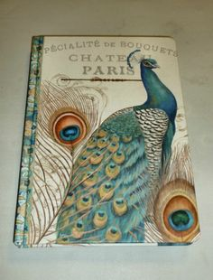 ENCHANTE ACCESSORIES PARIS AQUA PEACOCK HARDBACK DECORATIVE JOURNAL