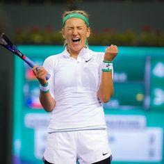 Back in the Indian Wells final #victoriaazarenka #celebration #2012champion #fistpumps #tennisemotions