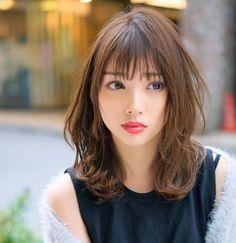 Medium Hair Styles, Short Hair Styles, Lady Lovely Locks, Prity Girl, Beautiful Japanese Girl, Hair Arrange, Asian Hair, Face Hair, Beauty Women