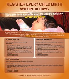 Department of Home Affairs - Stringent measures NOW apply for all births registered AFTER 30 DAYS!