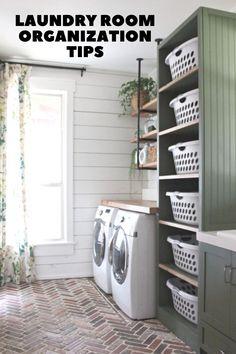 Mudroom Laundry Room, Laundry Room Layouts, Laundry Room Remodel, Farmhouse Laundry Room, Laundry Room Organization, Laundry In Bathroom, Organization Hacks, Laundry Room Floors, Organized Laundry Rooms