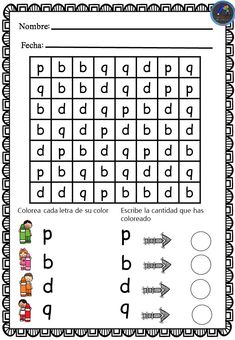 Fichas para trabajar la Dislexia - Imagenes Educativas Dyslexia Teaching, Teaching Phonics, Teaching Tools, Teaching Kids, Kids Learning, Indoor Activities For Kids, Learning Activities, Maternelle Grande Section, Visual Perception Activities