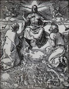 albrecht durer   Albrecht Durer Woodcut, The Last Judgment (The Small Passion), c.1510