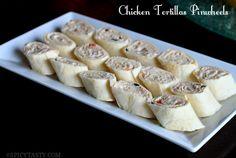Chicken Tortilla Pinwheels