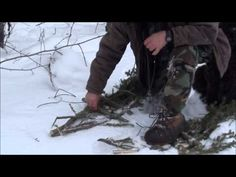 Make your own Snowshoes if you ever get stuck - easy. Watch to the end to see how well they work!! :)