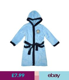 103d6f16a2 Boys  Clothing Years) Boys Dressing Gown Manchester City Bath Robe Football  Mcfc Hoody 3 To 12 Years. Imperial Interiors · Luxury Italian Bathrobes