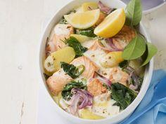 Lachsgratin mit Spinat ist ein Rezept mit frischen Zutaten aus der Kategorie Blattgemüse. Probieren Sie dieses und weitere Rezepte von EAT SMARTER!