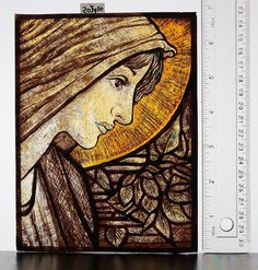 Stained Glass portrait Hand Painted kiln fired by StainedGlassical, $99.00