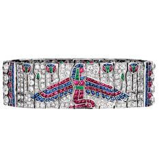 After the 1922 discovery of Tutankhamun's tomb, Egyptian-inspired jewelry became highly sought after. At CIRCA, we love buying fine jewelry from any period, like this Art Deco Egyptian revival pictorial bracelet from Van Cleef & Arpels #circajewels
