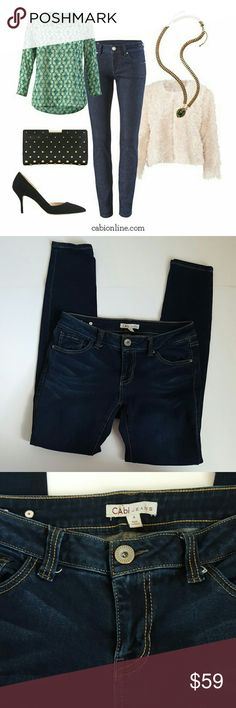 CAbi | stretch skinny jeans | 4 In excellent condition! Gorgeous CAbi stretch jeans, size 4. Skinny leg. Made with spandex. 29.5 inch inseam. These are more of an ankle length pant. Perfect for any shoe!  No signs of wear shown.  Bundle up! Offers always welcome:) CAbi Jeans Ankle & Cropped