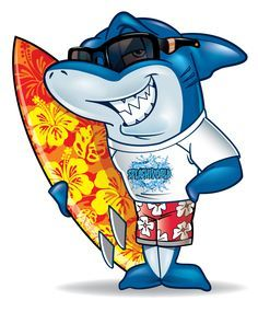 Need anything surf related? Shark Illustration, Shark Drawing, Surf Logo, Shark Art, Shark Tattoos, Fish Art, Beach Art, Sea Creatures, Vector Art