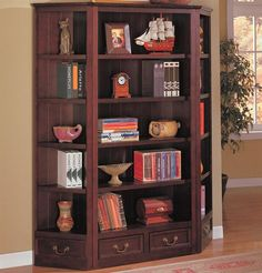 800375 Louis Philipe Bookcase In Deep Cherry | New $1199 SALE $845.33 FRIENDS DISCOUNTED PRICE $634.00