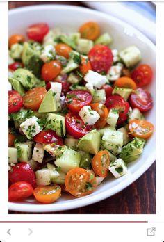 Tomatoes Cucumber Avocado Salad