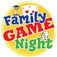 Family Game Night clip art from PTO Today.