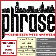PHRASES+WORKSHEETS+WITH+ANSWERS+from+JOHN421969+on+TeachersNotebook.com+-++(26+pages)++-+A+resource+that+contains+30+worksheets+with+answers+on+Phrases.+