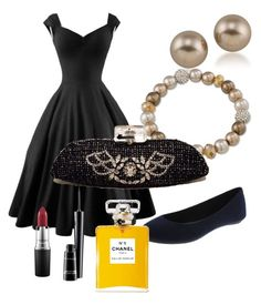 """""""Classic on a Budget with a Dream"""" by dancingwdaleks on Polyvore featuring Carolee, Chanel and MAC Cosmetics"""