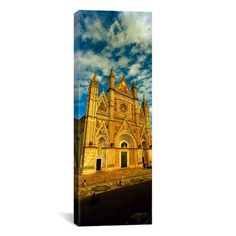 "East Urban Home Panoramic 'Duomo Di Orvieto, Orvieto, Umbria, Italy' Photographic Print on Canvas Size: 60"" H x 20"" W x 1.5"" D"