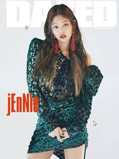 BLACKPINK's JENNIE shows what a true girl crush is. She showed off her femme fatale charms in a seductive costume. 2ne1, Blackpink Jennie, Marie Claire, South Korean Girls, Korean Girl Groups, Black Pink, Kim Jisoo, Thing 1, Cover Model