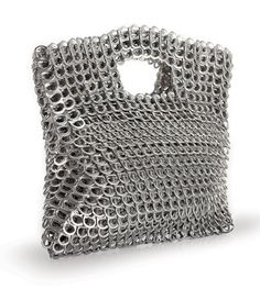 Love these bags made out of pull tabs from soda cans. My friend has one in purple that is so cool looking!