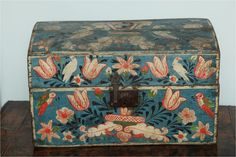 antique painted box — isn't this one wonderful?! Love the birds.
