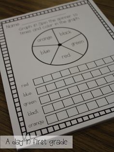 spin and graph a color- my students thought this was so fun!