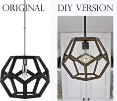Knock off this amazing Ralph Lauren decahedron pendant light fixture. | 35 Money-Saving Home Decor Knock-Offs